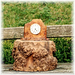An Elm clock; Actual size=180 pixels wide